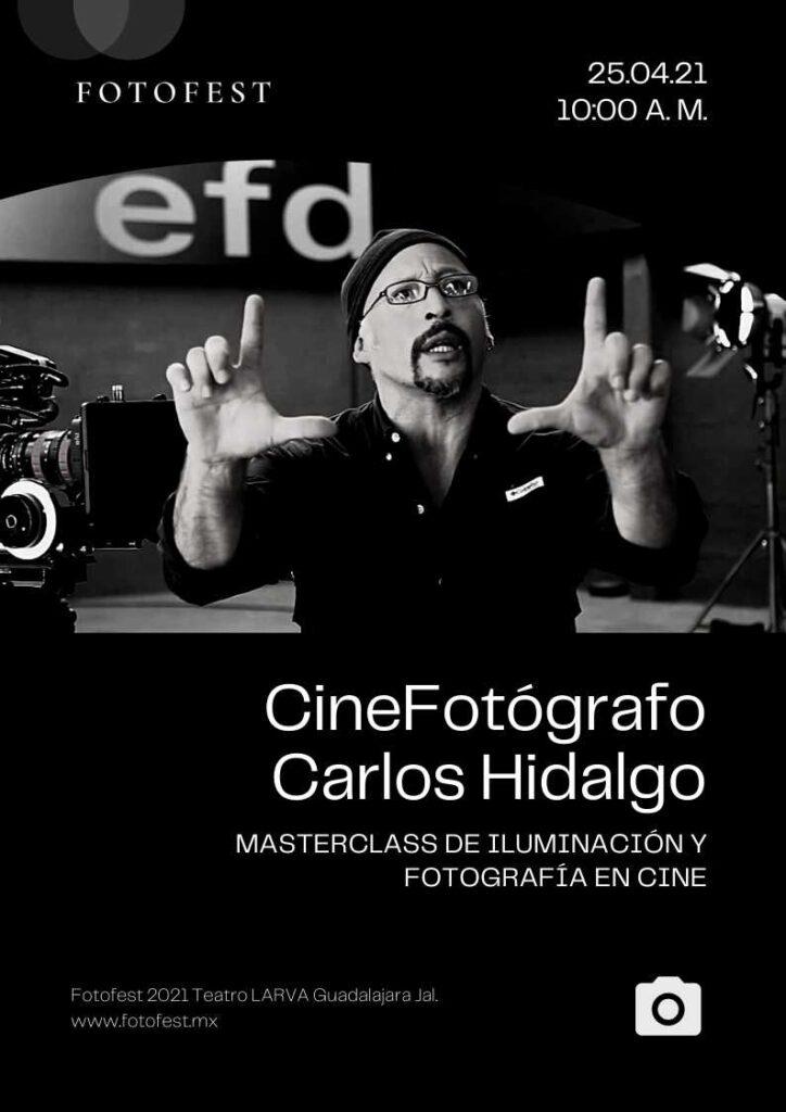 MasterClass de iluminación y fotografía en cine con Carlos Hidalgo.